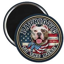"Patriotic - Pit Bull 2.25"" Magnet (100 pack)"