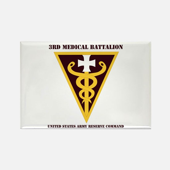 DUI - 3rd Medical Command with text Rectangle Magn