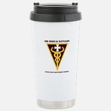 DUI - 3rd Medical Command with text Travel Mug