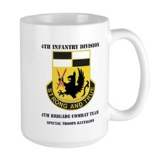 DUI - 4th BCT - Special Troops Bn with Text Mug