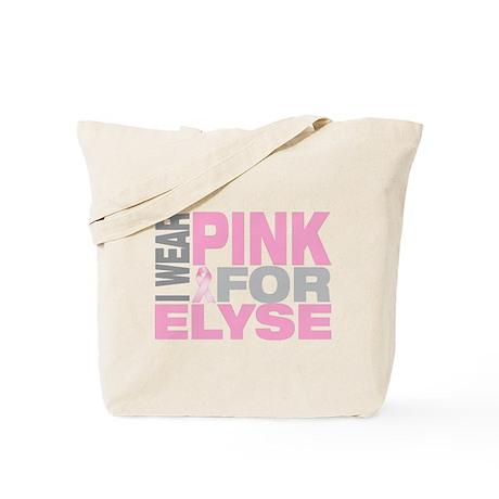 I wear pink for Elyse Tote Bag