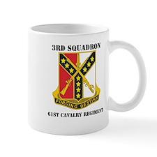 DUI - 3rd Sqdrn - 61st Cavalry Regt with Text Mug