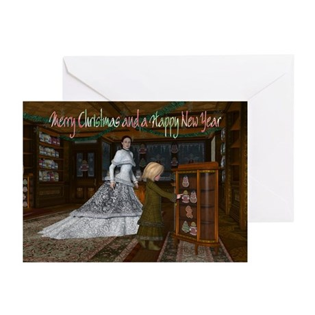 Christmas Vintage Shop Greeting Cards (Pk of 10)