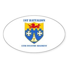 DUI - 1st Bn - 12th Infantry Regt with Text Sticke
