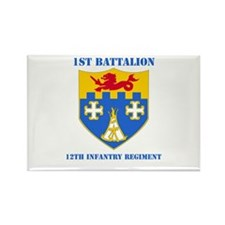 DUI - 1st Bn - 12th Infantry Regt with Text Rectan