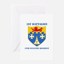 DUI - 1st Bn - 12th Infantry Regt with Text Greeti