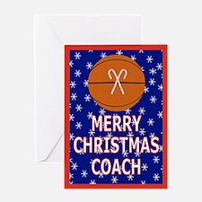 Christmas Basketball Coach Greeting Card