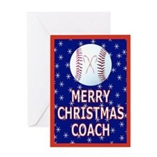 Christmas Baseball Coach Greeting Card