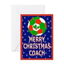Christmas Soccer Coach Greeting Card