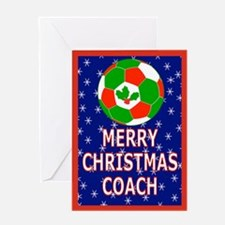 Christmas Soccer Coach Greeting Card