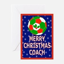 Christmas Soccer Coach Greeting Cards (Pk of 10)