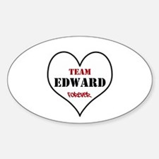 Team Edward Forever Sticker (Oval)