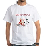 Martial arts santa Mens Classic White T-Shirts