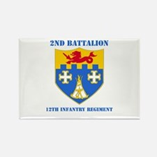 DUI - 2nd Bn - 12th Infantry Regt with Text Rectan