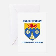 DUI - 2nd Bn - 12th Infantry Regt with Text Greeti