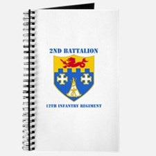 DUI - 2nd Bn - 12th Infantry Regt with Text Journa