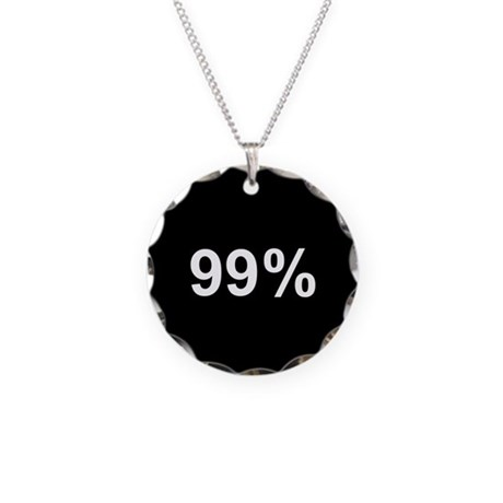 99 Percent: Necklace Circle Charm
