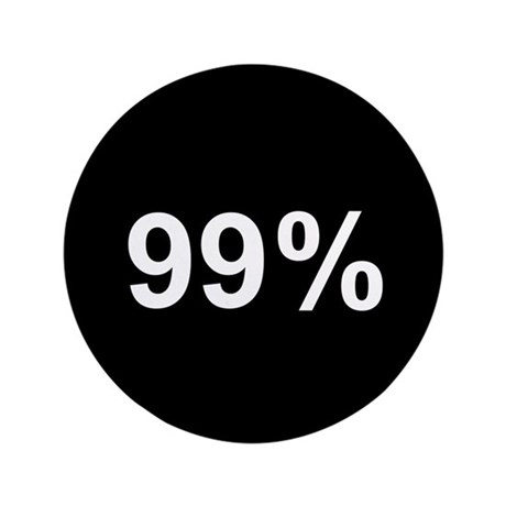 "99 Percent: 3.5"" Button (100 pack)"