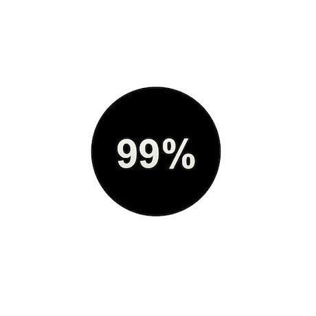 99 Percent: Mini Button (100 pack)