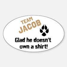 Doesn't Own a Shirt Sticker (Oval)