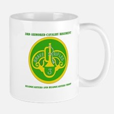 HQ and HQ Troop, 3rd ACR with Text Mug