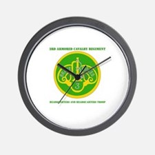 HQ and HQ Troop, 3rd ACR with Text Wall Clock