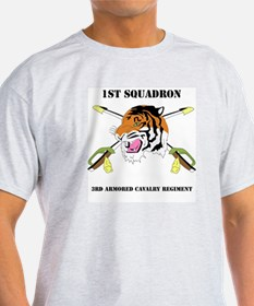 DUI - 1st Squadron - 3rd ACR WITH TEXT T-Shirt