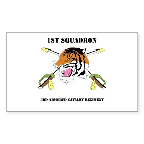 DUI - 1st Squadron - 3rd ACR WITH TEXT Sticker (Re