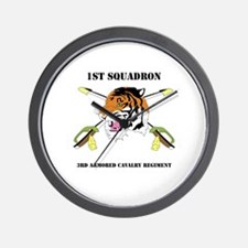 DUI - 1st Squadron - 3rd ACR WITH TEXT Wall Clock