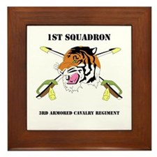 DUI - 1st Squadron - 3rd ACR WITH TEXT Framed Tile