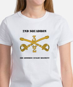 DUI - 2nd Squadron - 3rd ACR with text Women's T-S