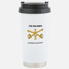 DUI - 2nd Squadron - 3rd ACR with text Travel Mug