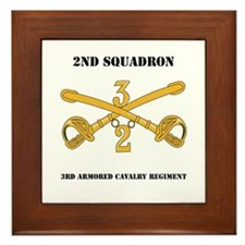 DUI - 2nd Squadron - 3rd ACR with text Framed Tile
