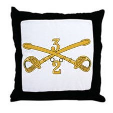 DUI - 2nd Squadron - 3rd ACR Throw Pillow