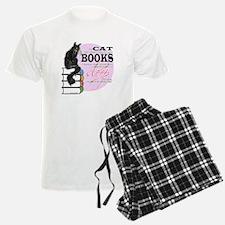 Cat and Books 2 Pajamas