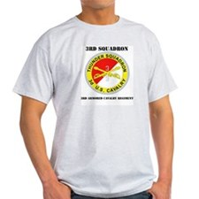 DUI - 3rd Sqdrn - 3rd ACR with Text T-Shirt