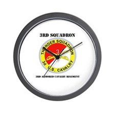 DUI - 3rd Sqdrn - 3rd ACR with Text Wall Clock