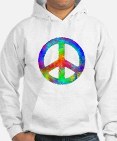 Multicolored Peace Sign Hoodie
