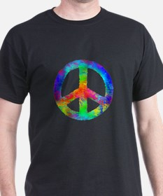Multicolored Peace Sign T-Shirt