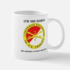 DUI - 4th Sqdrn (Aviation) - 3rd ACR with Text Mug