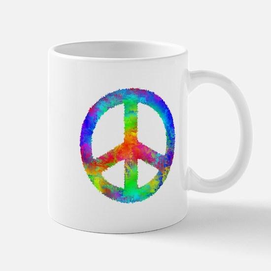 Multicolored Peace Sign Mug