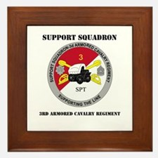DUI - Support Squadron 3rd ACR with Text Framed Ti