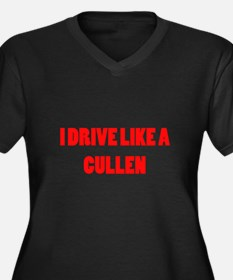 I drive like a Cullen Women's Plus Size V-Neck Dar