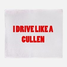I drive like a Cullen Throw Blanket