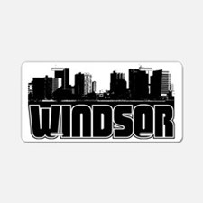 Windsor Skyline Aluminum License Plate