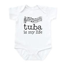 Tuba is My Life Music Gift Infant Bodysuit