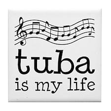 Tuba is My Life Music Gift Tile Coaster