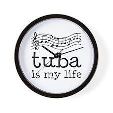 Tuba is My Life Music Gift Wall Clock