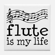 Flute is My Life Music Gift Tile Coaster