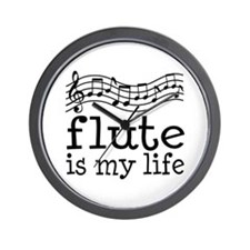 Flute is My Life Music Gift Wall Clock